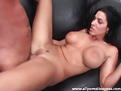 His lean big titty milf takes hard cock tubes