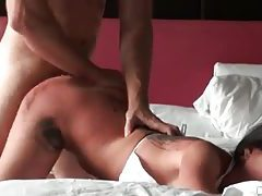 Tattooed bikini girl fucked hard from behind tubes