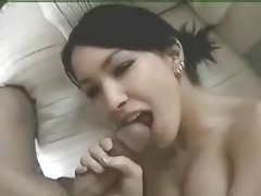 She sucks hard cock with tight lips tubes