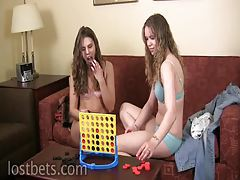 Mary and Amber Play Strip Four In A Row tubes