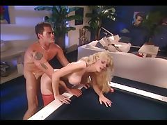 Big boobed blonde mom fucking in red stockings tubes