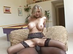 Julia Ann in lingerie for his big black cock tubes