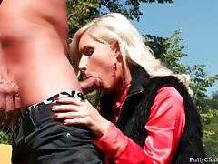 Satin blouse on suck and fuck girl outdoors tubes