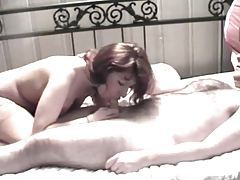 Hairy dude blown and ridden by amateur milf tubes
