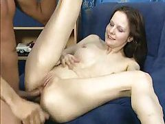 Youth is beauty as shaved box babe gets laid tubes