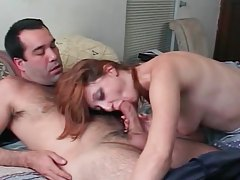 Sensual redhead hottie gives a loving blowjob tubes