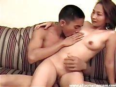 Sensual Asian couple enjoy a steamy fuck session tubes