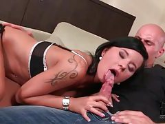 He kisses her sexy ass and she sucks cock tubes