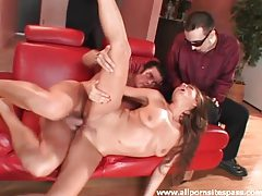 Cheating while hubby watches turns her on tubes