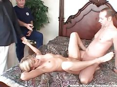 Milf happily takes cock and cum while cheating tubes