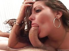 She can deepthroat a dick and goes after man tubes
