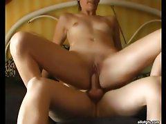 Sensual brunette amateur sucks and fucks cock POV style tubes