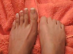 Enjoy the French manicured feet of beauty tubes