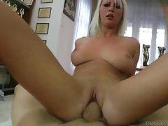 Big cock stuffs her slutty pussy in POV tubes