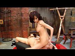 Mistress demands he lick her asshole tubes