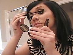 Beautiful Andi Crush does her makeup tubes