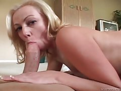 Sexy blonde babe with tattoos gets her luscious ass pumped tubes