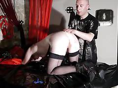 french libertine submissive in caning session bdsm tube