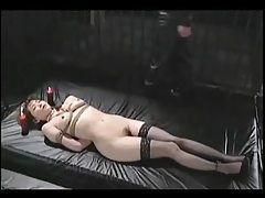 Asian Tied In Stockings Whipped And Hot Waxed tubes