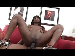 Super fit body on cock riding black chick tubes