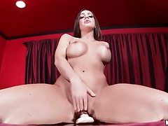She blows and rides a thick dildo tubes