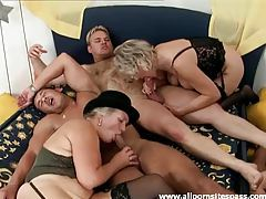 An orgy with sexy old ladies tubes