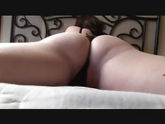 Solo girl teases big ass in panties tubes