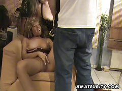 Busty amateur wives sucks and fucks with cum on tits tubes