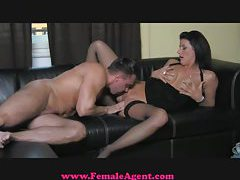 FemaleAgent Cocky casting gets dominated tube