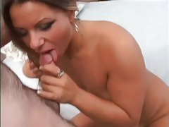 Curvy fit looking chick strips and sucks dick tubes