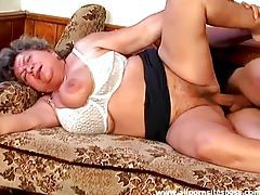 Fat granny fucked in the hairy vagina tubes
