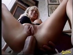 Two Euro sluts anally fucked in a foursome tubes