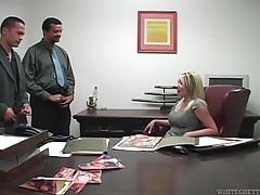 She wants them to jerk off on her ass in office tubes