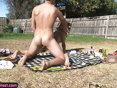 Young Aussie amateurs fucking outdoors tubes