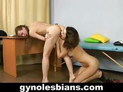 Shy girl seduced and straponed by lesbian doctor tubes