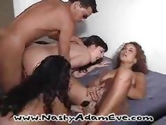 Wild interracial sex party gets real hardcore orgy tubes
