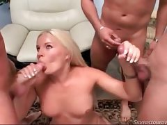 Hot blonde sucks lots of dicks tubes