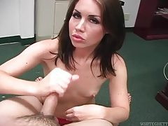 Itty bitty tits on a cock stroking girl tubes