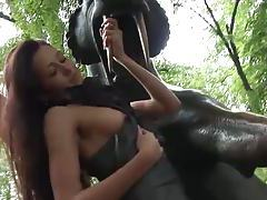 Eroberlin russian topmodel maria open public up skirt long hair tubes