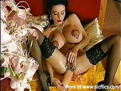 Huge anal dildo fucking Queen of extreme tubes