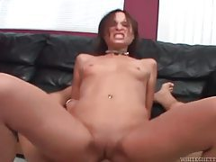 Vigorous deepthroat suck and anal fuck with slut tubes