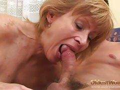 Hairy mature vagina sits on stiff dick tubes