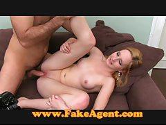 FakeAgent Blonde takes anal creampie tubes