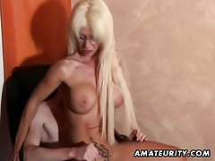 Young amateur guy enjoys a naughty busty Milf at home tubes