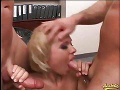 Cocksucker turns into anal slut in threesome tubes