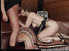 Hot mature bent over on the couch and fucked tubes
