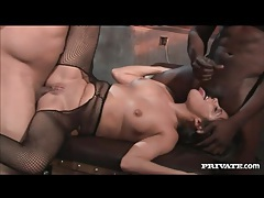 Black police officers fuck horny fishnets girl tubes