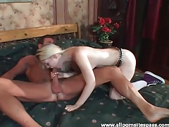 Wet blowjob from hot blonde he ate out tubes