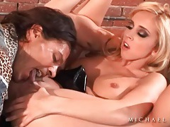 Sucking nipples and finger fucking pussy tubes