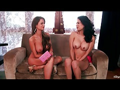 Interview with topless chicks talking cute tubes
